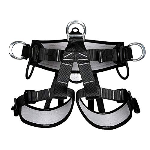 (HYRL Half-Length Seat Belt, Fall Protection Rock Climbing Equip Gear Rappelling Harness - for Outdoor Cave/Quick Down/Rock Climbing)