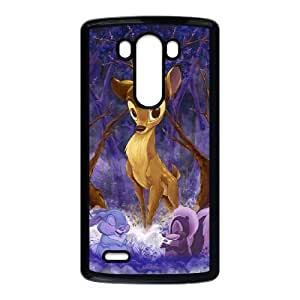 Bambi LG G3 Cell Phone Case Black Exquisite designs Phone Case KM598888