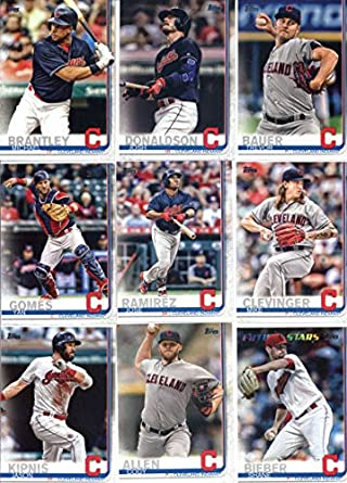 big sale 5cd08 ab3f4 Amazon.com: 2019 Topps Series 1 Baseball Cleveland Indians ...