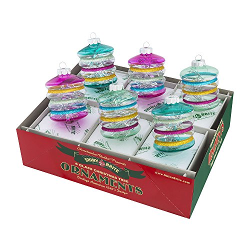 Shiny Brite Vintage Celebration Lanterns with Tinsel - Set of Six (Vintage Shiny Brite Ornaments compare prices)