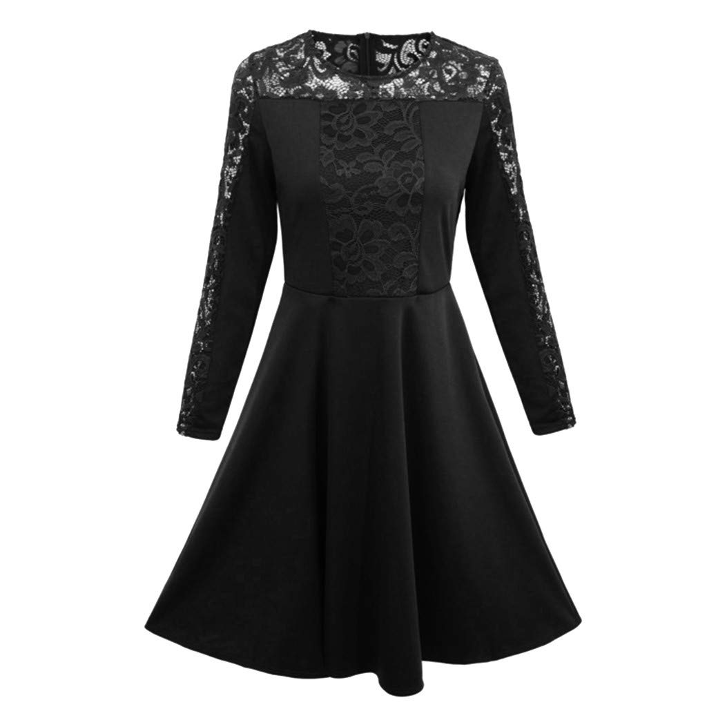 Amazon.com: WUYIMC Womens 2019 Floral Formal Lace Vintage 3/4 Sleeve Wedding Cocktail Maxi Dress: Clothing