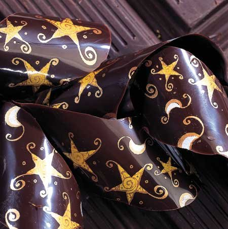 Chocolate Transfer Sheet: Etoiles (Stars). 15 sheets per pack. Each Sheet 16'' x 10'' by PCB (Image #1)