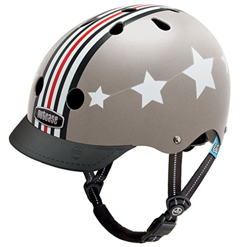 Nutcase – Little Nutty Street Bike Helmet, Fits Your Head, Suits Your Soul – Silver Fly For Sale