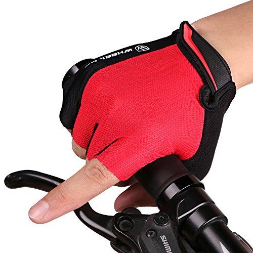 シャンプー知的例示する財務計画ノンスリップ滑り止め柔らかい通気性ライクラサイクリングハーフフィンガー自転車バイク手袋