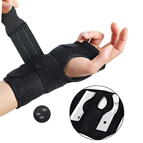 Wrist Brace-Removable Splint for Men/Women Thumb and Wrist Brace,Fracture,Tendonitis, Arthritis,Golf,Day and Night Therapy Carpal Tunnel Wrist Support-Right Hands,All Sizes