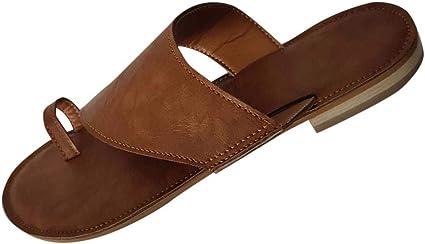 Sandales Et Pantoufles Pour Femmes Grande Taille à Bout Plat