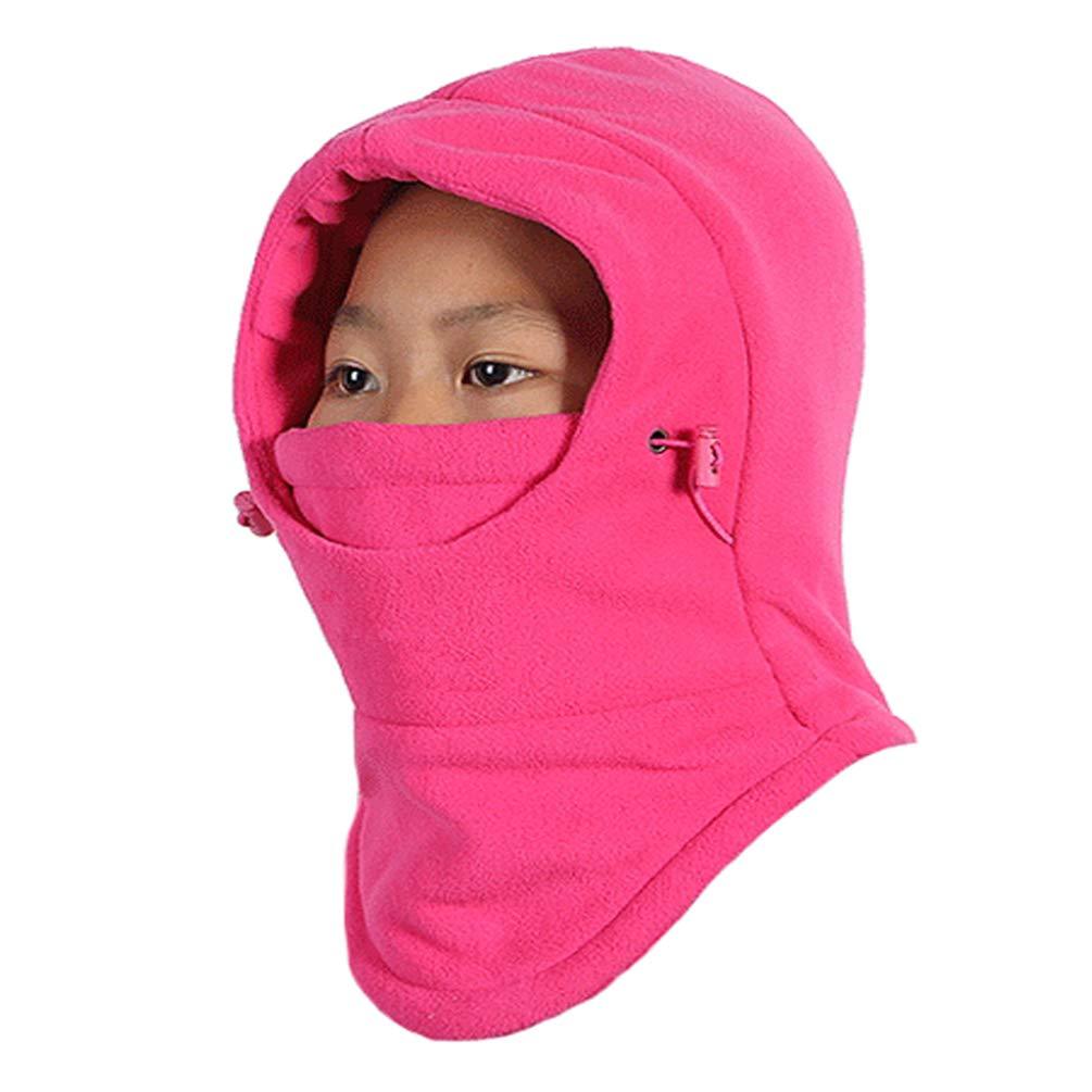 Rgslon Girls Boys Warm Hats Windproof Ski Mask Neck Warmer Balaclava