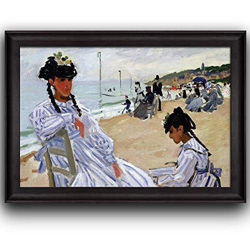 Paris Marmottan Strand Trouville by Claude Monet Framed Art