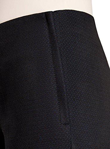 oodji Collection Mujer Pantalones Ajustados con Cremallera en el Lateral Negro (2979J)