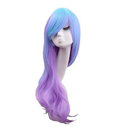 De las mujeres de Hosee 80 cm largo y de mezcla de color azul y morado