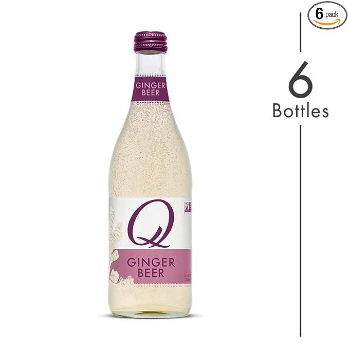Q Mixers Ginger Beer, Premium Cocktail Mixer, 500 mL (6 Bottles)