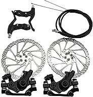 AOOCEEPAW Mechanical Disc Brake Set Front Rear Caliper 160mm,Bolt Disc Brake Rotor Brake Levers Cable Kit for