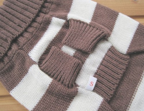 Pictures of Turtleneck Stripes Pet Clothes Dog Wool Classic 3