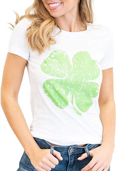 OOEOO Women Girls Plus Size Print Tees Shirt Short Sleeve T Shirt Blouse Tops