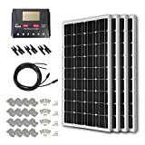 HQST 400 Watt 12 Volt Monocrystalline Solar Panel Kit with 30A PWM LCD Display Charge Controller