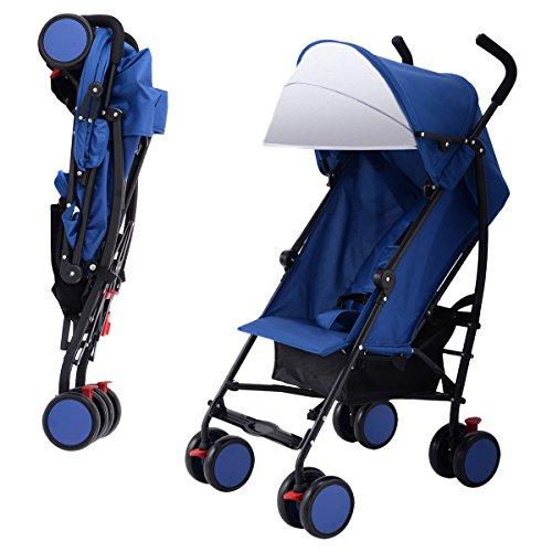 Costzon Umbrella Stroller Lightweight Baby Toddler Pushchair Travel Jogger w/Storage Basket (Blue)