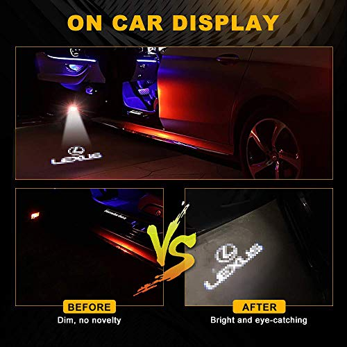 Car Door Projector Lights For Lexus Logo Courtesy Lamps Ghost Shadow