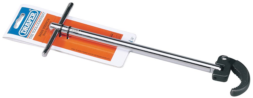 Draper 56442 40 mm Capacity Adjustable Basin Wrench