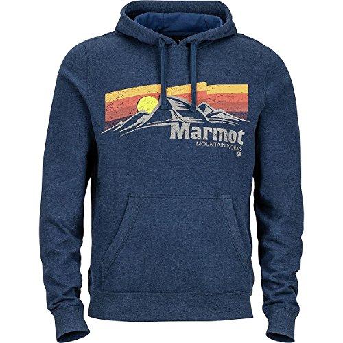 Marmot Men's Sunsetter Hoodie Vintage Navy Heather - Mens Fleece Marmot