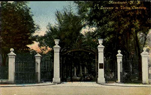 Entrance To Valley Cemetery Manchester, New Hampshire Original Vintage Postcard
