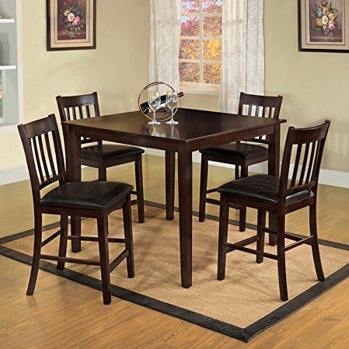 Creek 5 Piece Leg Table (Furniture of America Espresso West Creston Creek 5-piece Counter Height Dining)