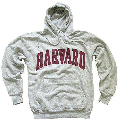 Harvard+University+Hoodie+Sweatshirt+Arched+Block+Grey+-+XXL