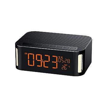 MUYIER Radio Reloj Despertador, Altavoz Inalámbrico ...
