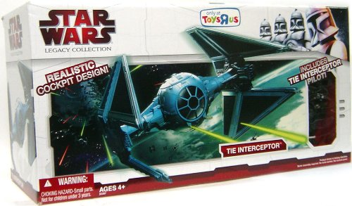 Star Wars Tie Interceptor 2009 Toys R Us Exclusive Clone Wars Vehicle with Pilot (Star Wars Toys At Toys R Us)