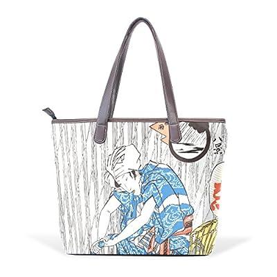 e5c744f72b 30%OFF Ukiyoe Ukiyo-E Print Japanese Art Women s Fashion Large Shoulder Bag  Handbag