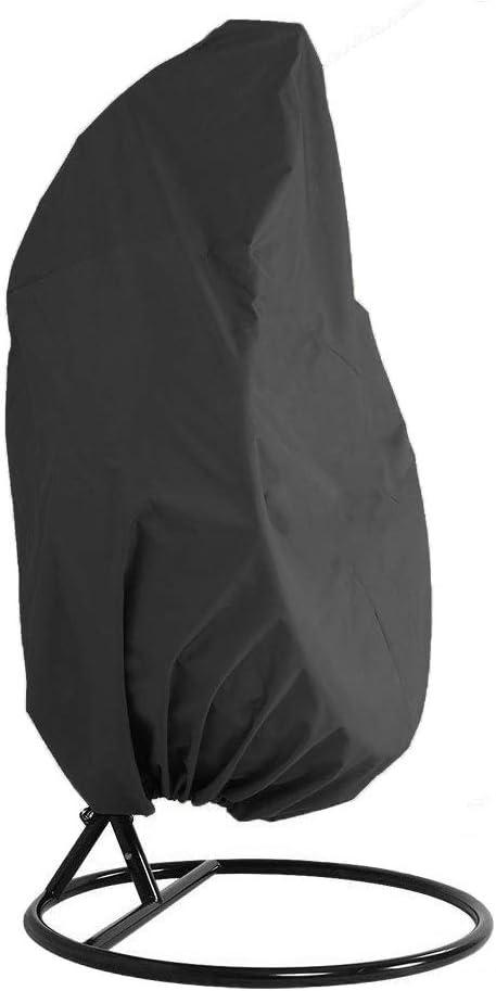 HONCENMAX Jardín Funda para Silla de Cocoon - Cubierta para Silla Colgante - Mantén Tu Balancín De Mimbre Protegido - Impermeable Muebles Funda - Tela Oxford con Forro de PVC