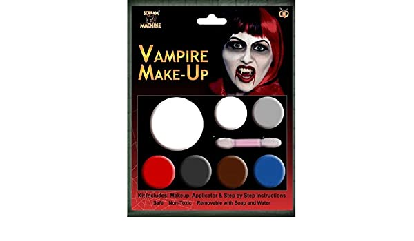 Amazon.com: HALLOWEEN MAKEUP FACE PAINT ZOMBIE DEVIL WITCH VAMPIRE CLOWN KIT SET FAKE BLOOD[Vampire] by Other: Beauty