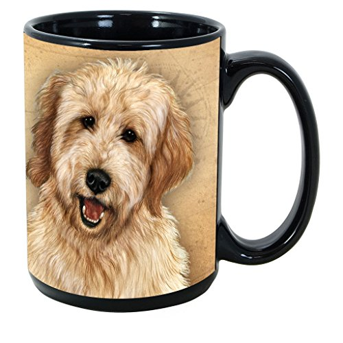 Breed Coffee Mug - Imprints Plus Dog Breeds (E-P) Goldendoodle 15-oz Coffee Mug Bundle with Non-Negotiable K-Nine Cash (goldendoodle 084)