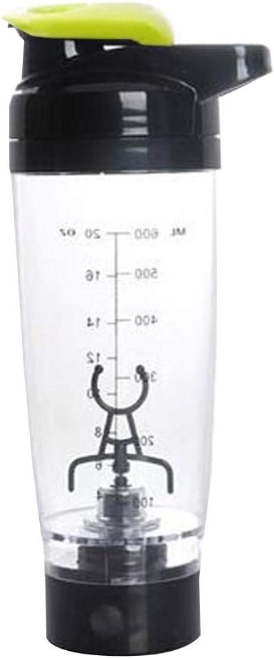BESTonZON Mezclador de Vortex Mezclador de proteínas Eléctrico Portátil Batidora 600ml / 20 Oz (Verde)