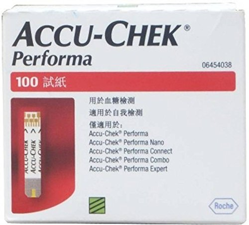 Accu-Chek Performa 100 Test Strips Without 222 Code Chip ...