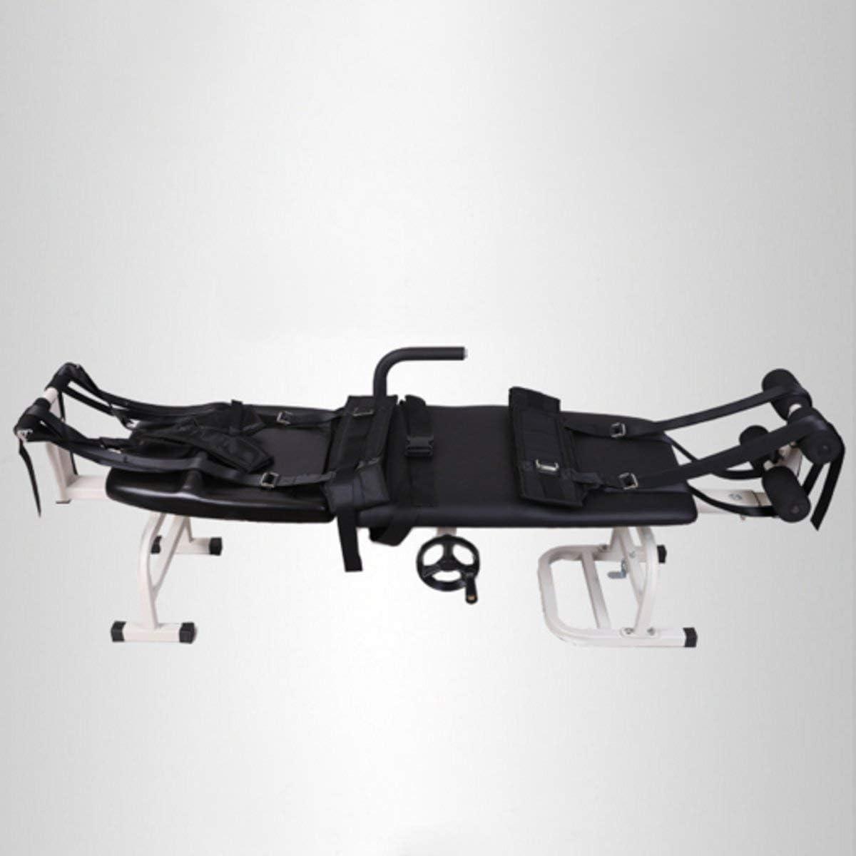 ポータブル頚椎牽引ベッド腰椎マッサージベッドプロフェッショナルマシンクローズアップ調節可能なベルトボディ牽引機器ホームデバイス