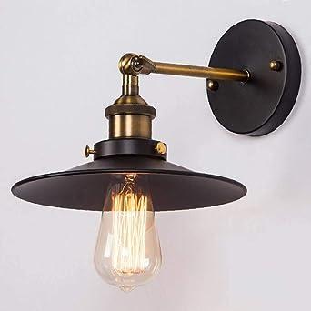 Lightsjoy Applique Murale Industrielle en Métal Luminaire Mural Vintage  Rétro Lampe Murale Eclairage Décoratif pour Chambre Cuisine Couloir Salon  ...
