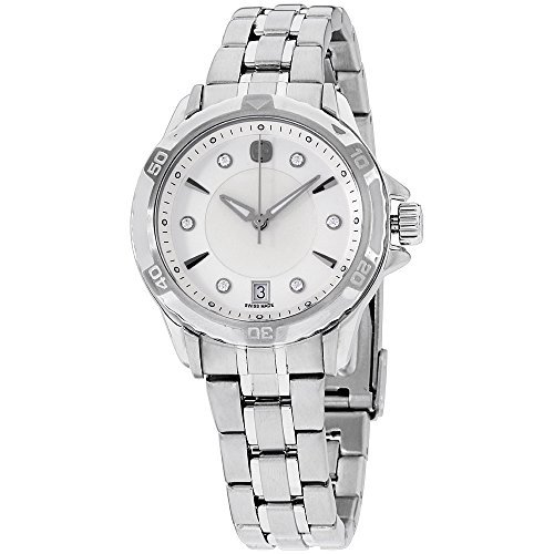 Stainless Steel Mop Watch - Wenger GST MOP Dial Stainless Steel Ladies Watch 79112