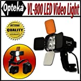 Opteka VL-800 Ultra High Power LED Camcorder Video Light Kit for Panasonic DVX100B, HMC40, HMC70, HMC80, HMC150, HVX200A, DVC30 and DVX100A