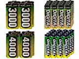 16 Aa 2600 Mah + 16 Aaa 1200 + 4 C 3000 Mah + 4 D 4000 Mah Nimh Accupower Batteries