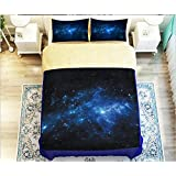 1800 Luxury Bedding Collection 3D Prints Dream shtar 4 Piece Bed Sheet Set Polyeshter 50% Cotton Durable Assorted Colors Duvet Cover Flat Sheets Pillowcases Twin Full Queen , 7 , queen