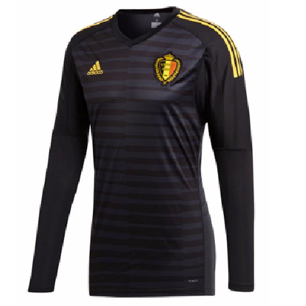 3023539c887 Amazon.com : 2018-19 Belgium Home Goalkeeper Football Soccer T-Shirt Jersey  (Thibaut Courtois 1) : Sports & Outdoors