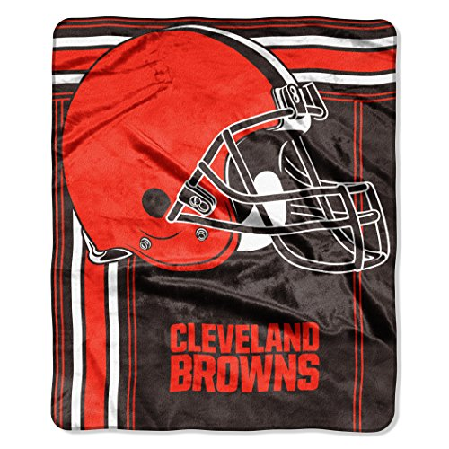 The Northwest Company NFL Cleveland Browns Touchback Plush Raschel Throw, 50