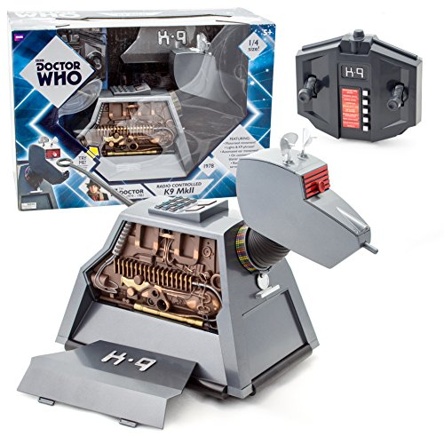 """513hL54cb L - Underground Toys Doctor Who RC Remote Controlled K-9 Mark II Robot Dog 11"""" Tall Action Figure"""