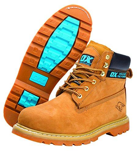 OX ox-s242508Honey nubuck Safety Boot, marrone chiaro, taglia 8