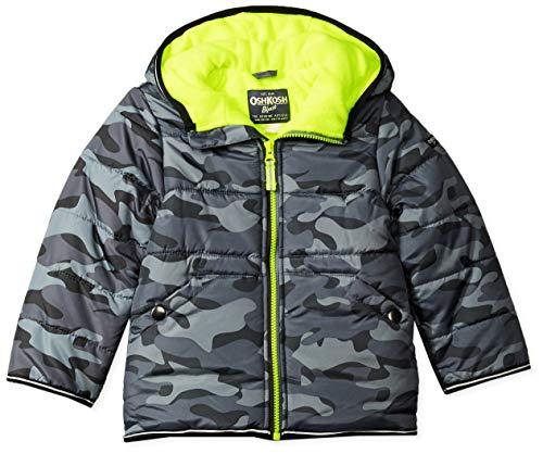 OshKosh B'Gosh Boys' Toddler Perfect Heavyweight Jacket Coat, Grey camo, 3T