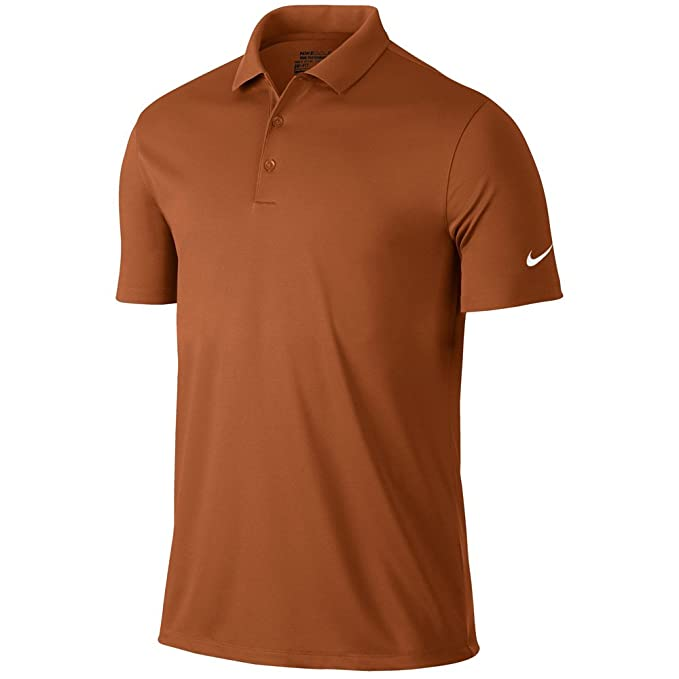 Nike Golf Victory Solid Polo (Desert Orange/White) (Small)