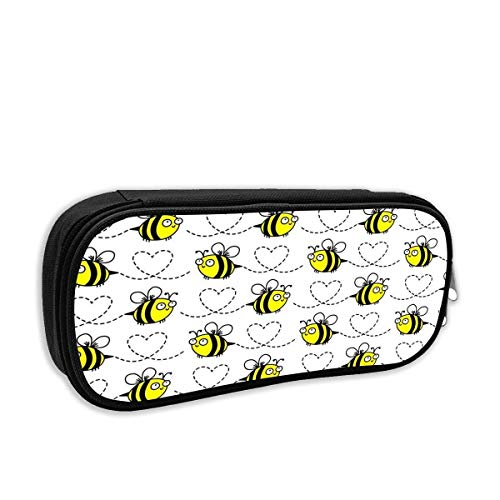 - Bumblebees White Pencil Pen Case Bag Stationery Pouch Bag for Kids,School Student School Supplies,Office Supplies