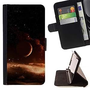 Momo Phone Case / Flip Funda de Cuero Case Cover - Espacio Universo Gas Nube Marrón - Samsung Galaxy S5 V SM-G900
