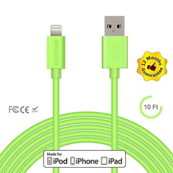 iPhone cargador, cambondâ® 304,8 cm largo certificaron ...