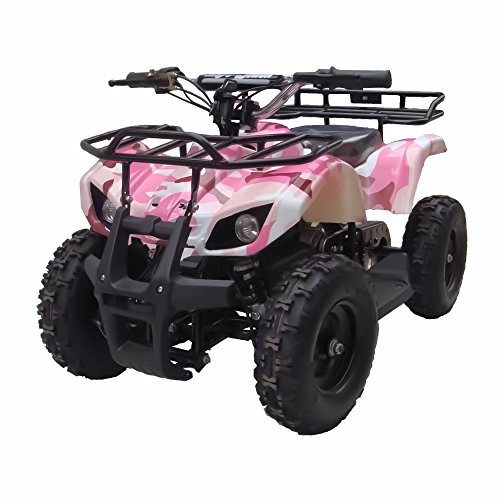 Sonora 350W 24V Electric Ride-On ATV for Kids, Pink Camo